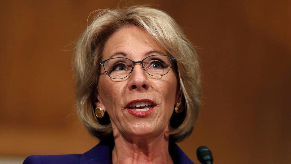Senate Democrats to hold floor to protest DeVos nomination