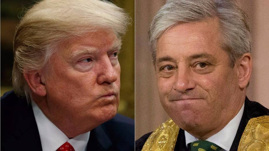 UK Speaker Bercow doesn't want Trump to address parliament