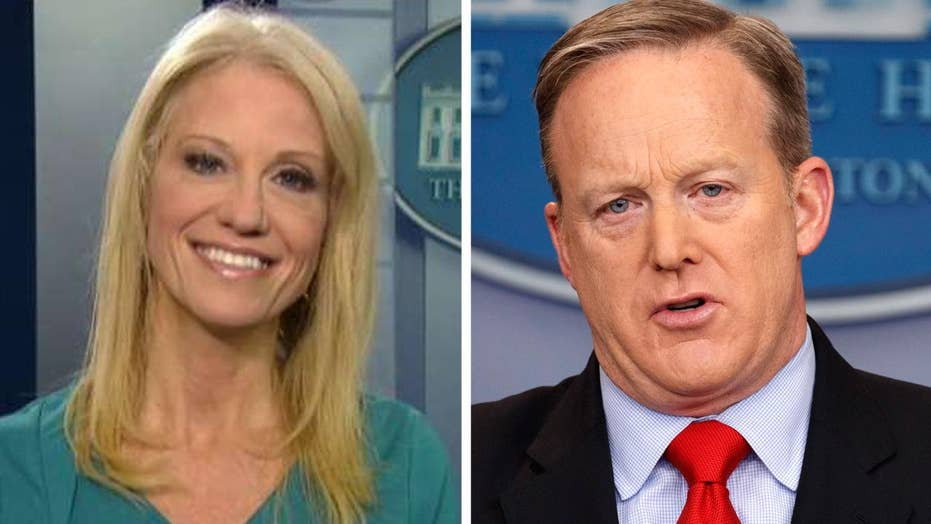 Kellyanne Conway addresses rumors about Sean Spicer's job