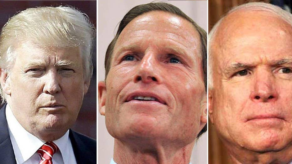 Trump takes to Twitter to hit Sens. McCain, Blumenthal