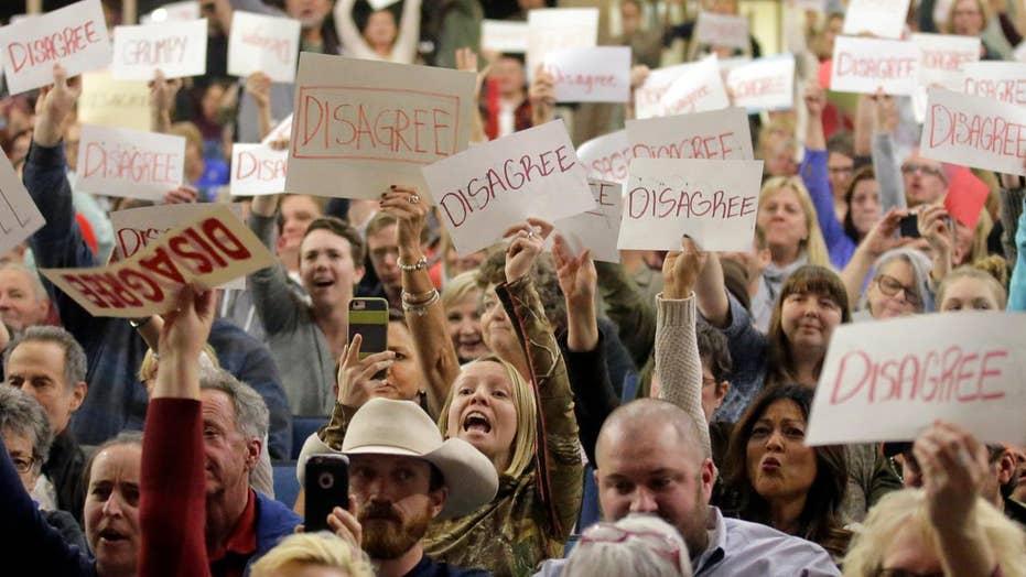 Tempers flare at Republican town hall in Utah