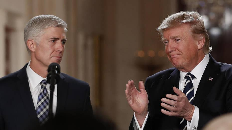 Is Judge Gorsuch distancing himself from President Trump?