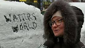 'Watters' World' hits the streets of snowy New York City