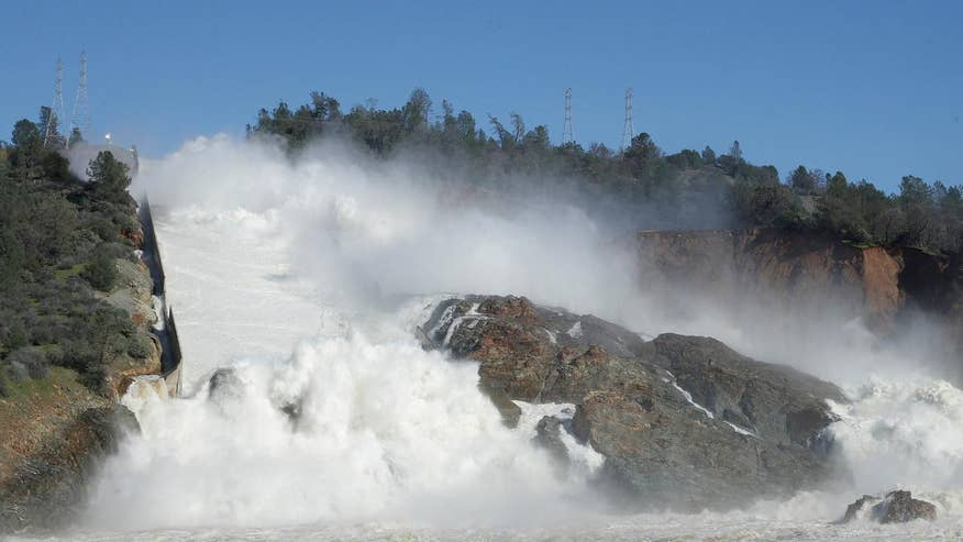 Image result for At least 188,000 urged to evacuate as concerns over California dam increase
