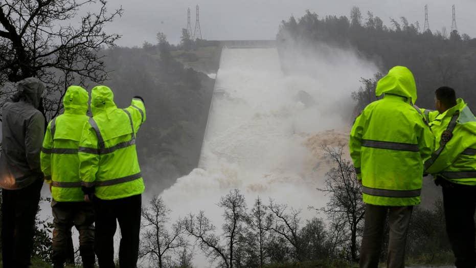 Crews work to patch up dam spillway, avoid catastrophe