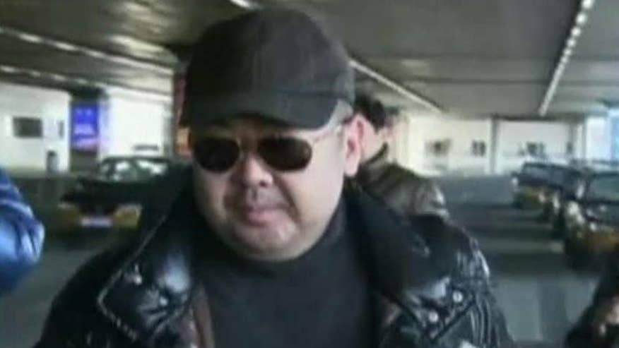 The estranged half-brother was reportedly sprayed in the face with a mystery liquid at an airport in Malaysia