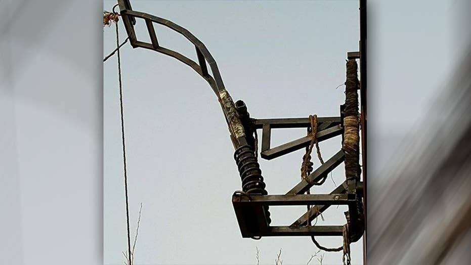 Drug catapult found on Mexican side of US border
