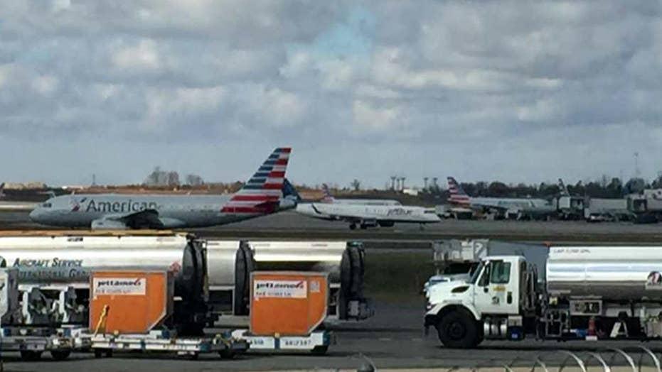 Plane hits deer during takeoff at North Carolina airport