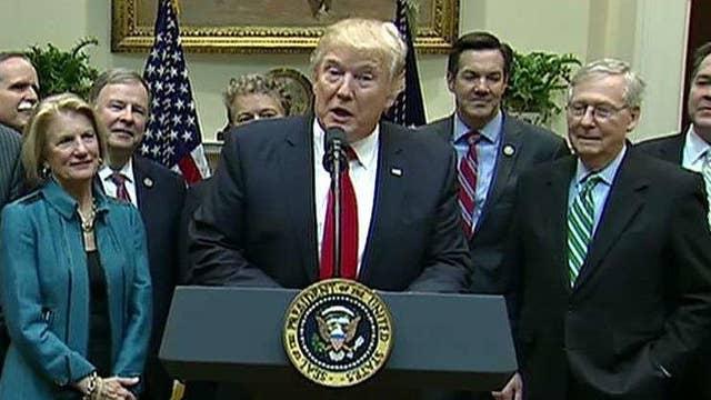 Trump signs legislation undoing coal mining regulation
