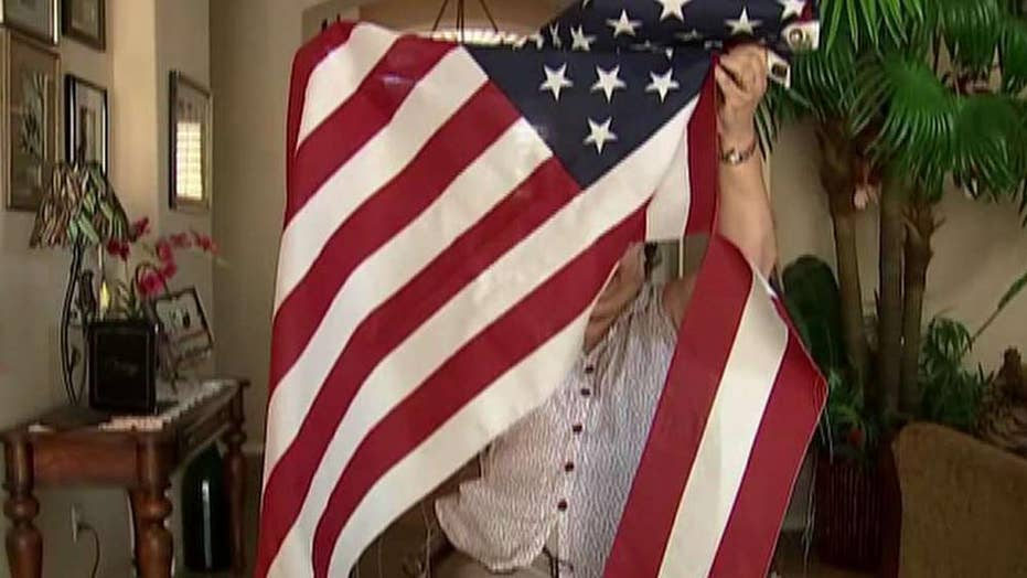 Military mom's American flag destroyed outside home