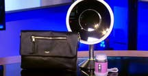 "Tech Take: Andrea Smith showcases the Elektronista Digital Leather Clutch Bag, Thinoptics Glasses and Carrying Case, Simplehuman 8"" Sensor Mirror Pro, Clarisonic Mia Fit Cleansing Device and the Suunto Spartan Sport Watch"
