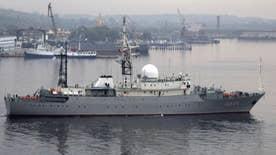 Viktor Leonov moves southward to position off coast of Norfolk, Virginia