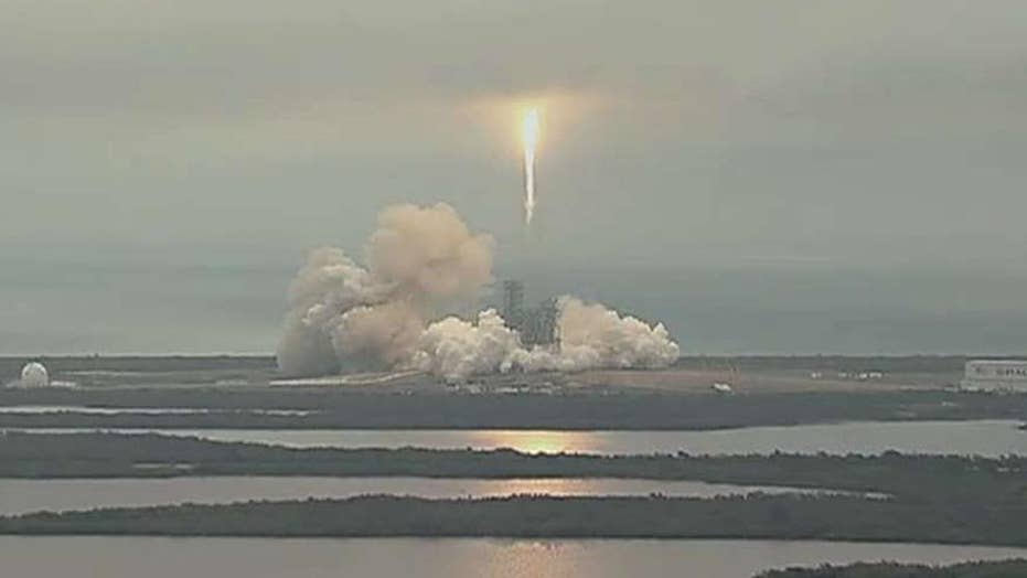 SpaceX Falcon rocket takes off after delay