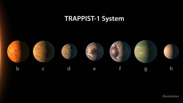 Astronomers discover seven Earth-sized planets