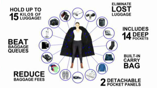 'Airport jacket' lets you wear 33 pounds of stuff