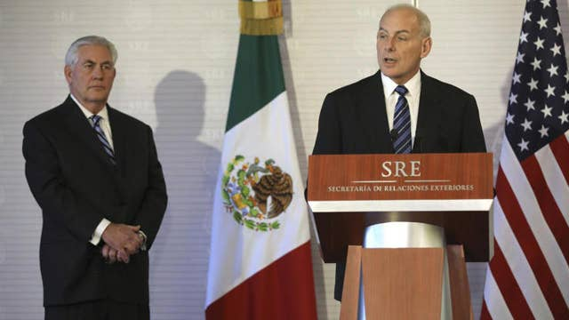 Tillerson talks Mexico tensions as Kelly contradicts Trump