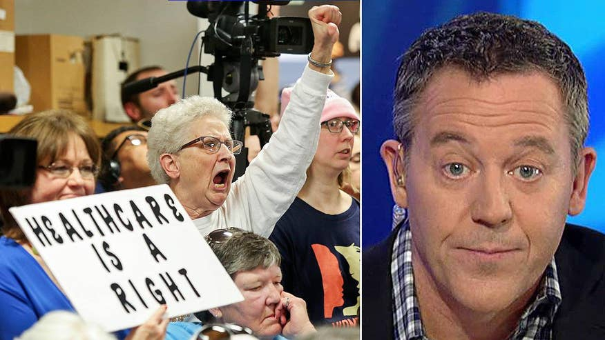 Unlike their coverage of Tea Party protests, the press is giving very sympathetic coverage to angry crowds at some GOP town hall meetings
