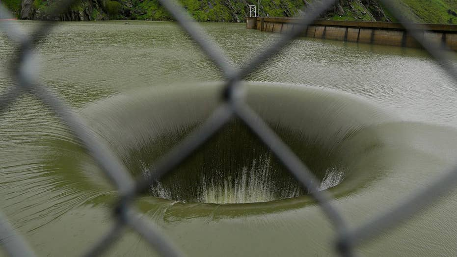 'Glory hole' returns to California lake