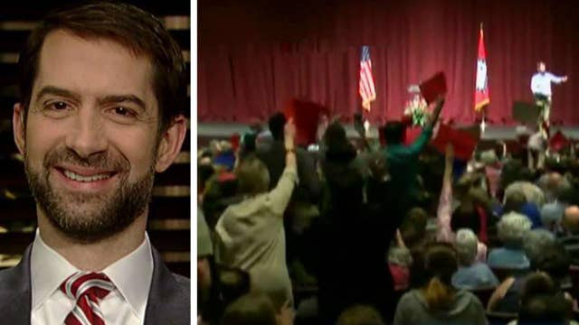 Sen. Tom Cotton talks uproar at his town hall event