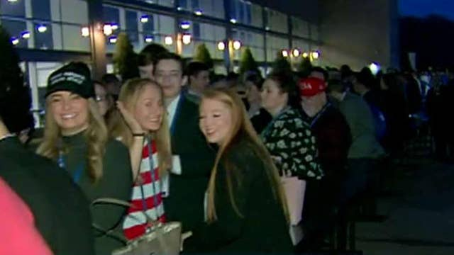 Supporters wait for hours to see Trump at CPAC