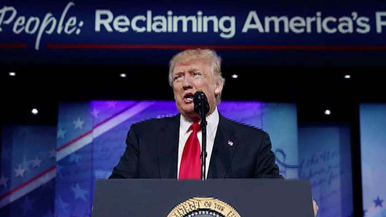 STAMP OF APPROVAL GOP gives Trump high rating in CPAC straw poll