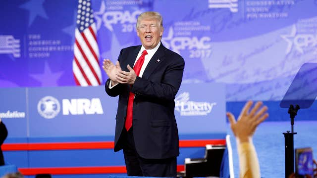 President Trump chides media in CPAC address