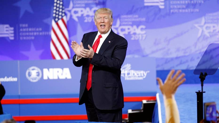 President Trump chides media in CPAC address