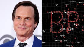 Members of the weather community celebrated the late Bill Paxton for his starring role in 'Twister,' by spelling out his initials on radar by using GPS coordinates. Paxton died from complications from surgery. He was 61
