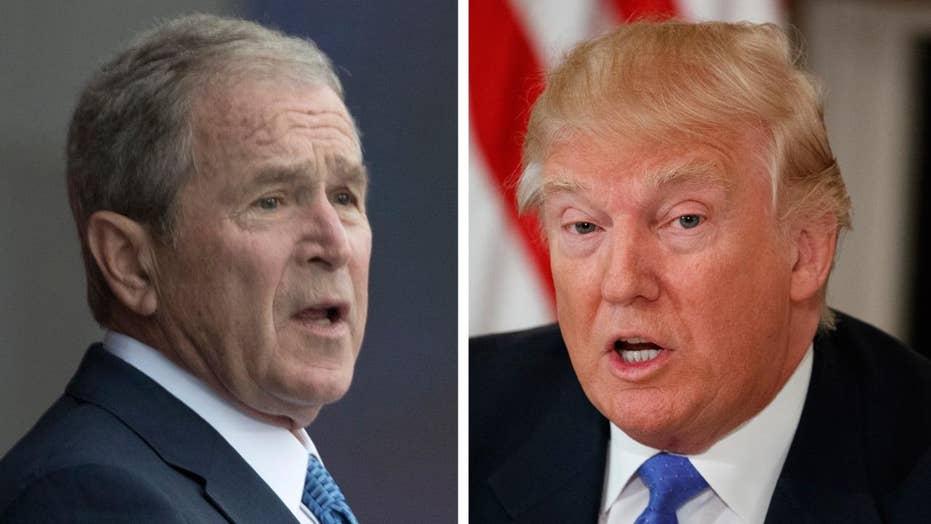 George W. Bush speaks out on President Trump