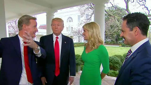 Trump gives 'Fox & Friends' a tour of the White House