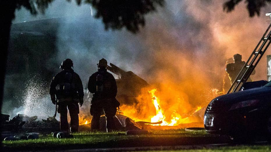 Three dead after small plane crashes into California homes