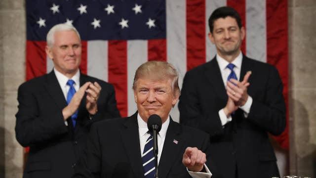 Part 1 of President Trump's address to Congress