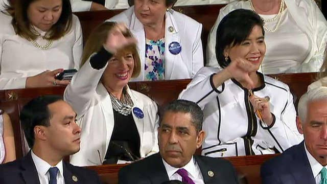Did Dem women have an appropriate reaction to Trump's talk?
