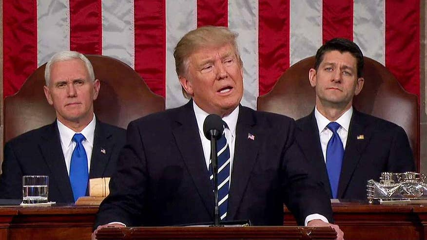 President Trump opens joint session of Congress