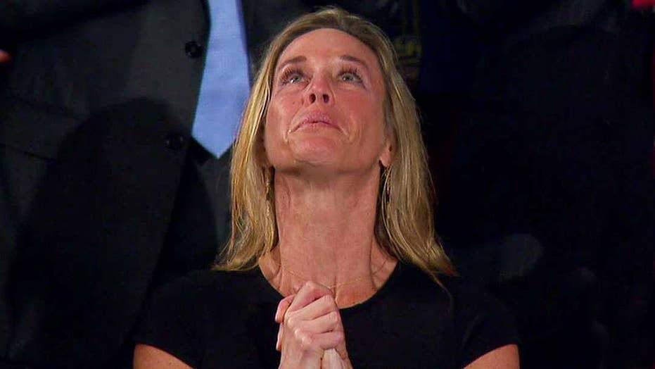 President Trump honors widow of fallen US Navy SEAL