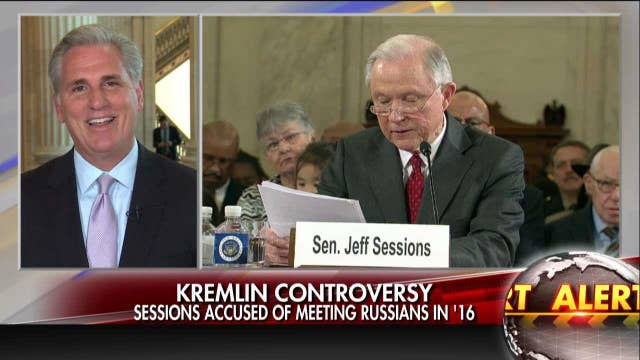 "McCarthy: timing of Sessions-Russia report ""amazing."""