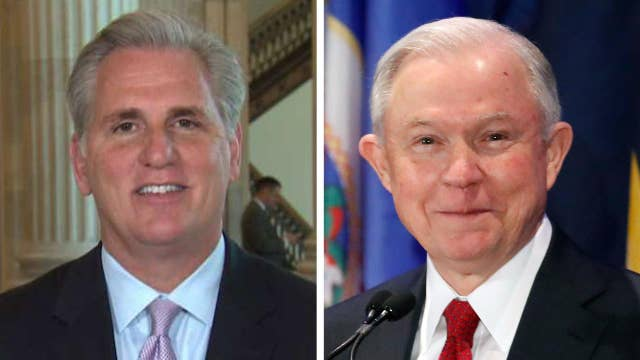 Rep. McCarthy questions timing of Sessions allegations