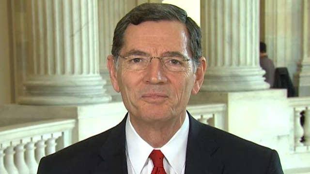 Sen. Barrasso pressed on status of GOP health care plan