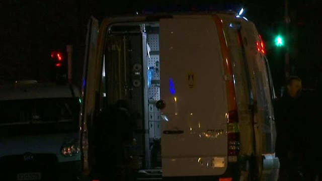 Brussels authorities check car loaded with gas bottles
