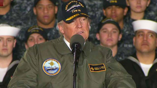 Trump talks expanding America's military capabilities