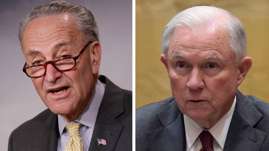 Schumer calls for Sessions' resignation, special prosecutor