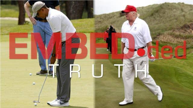 Trump versus Obama's golfing habits
