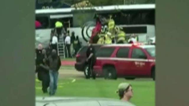 Fatal collision between freight train, charter bus in Biloxi
