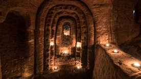 Four4Four Science: 700-year-old Knights Templar cave complex hidden beneath U.K. farmer's field; Jeff Bezos plans moon deliveries, mind-controlled robot, mold sells for $15,000