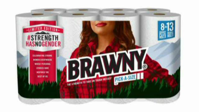 The Brawny Man gets replaced by a woman