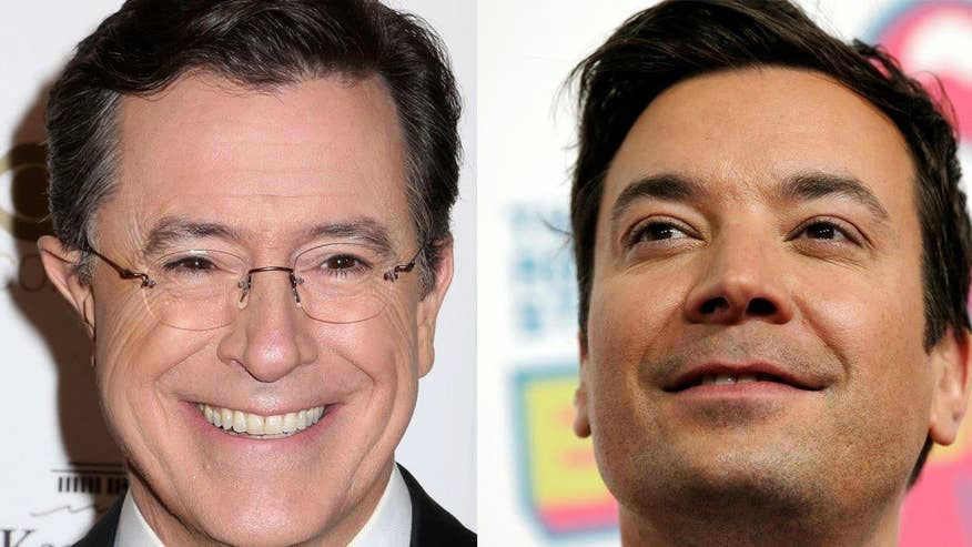 Four4Four: Stephen Colbert has pulled ahead in the ratings against Jimmy Fallon. Is Donald Trump to thank?
