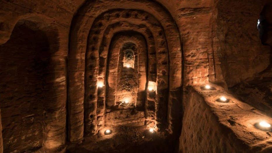Hidden caves of the mysterious Knights Templar revealed