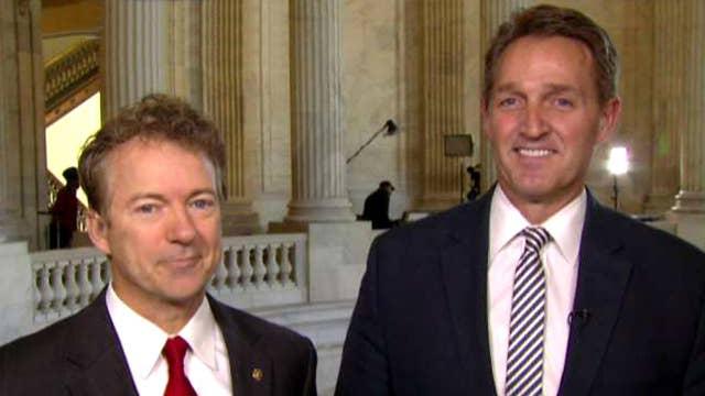 Sens. Jeff Flake and Rand Paul talk GOP health care battle