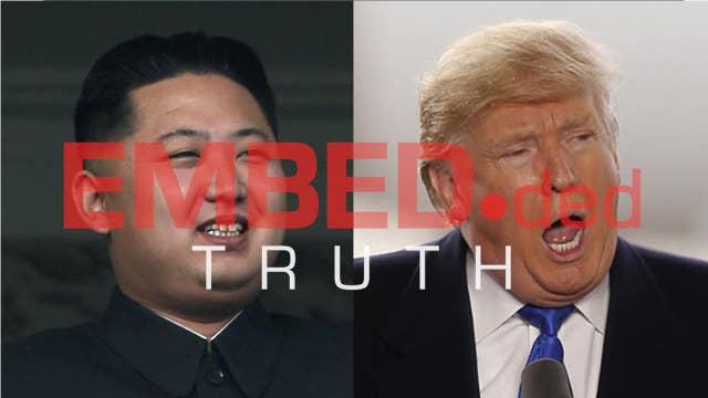Trump's history of taking a tough tone against North Korea