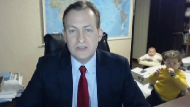 Children interrupt dad's interview on live TV